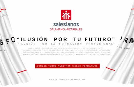 """Información Ampliada Ciclos Formativos, FPB, GM y GS  <a href=""""https://www.salesianospizarrales.com"""">[Más información aquí]</a>"""